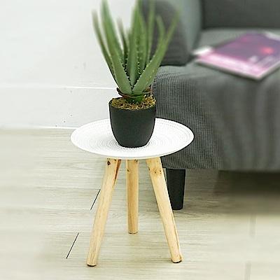 【收納職人】北歐立體浮雕花紋邊桌置物桌茶几(小)