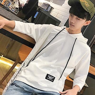 BuyGlasses 偏薄寬鬆半袖連帽T恤
