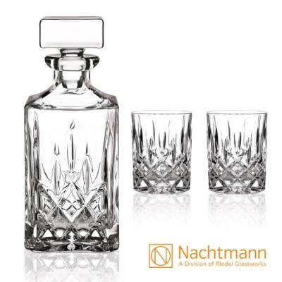 【Nachtmann】經典貴族威士忌壺+威士忌杯3入組