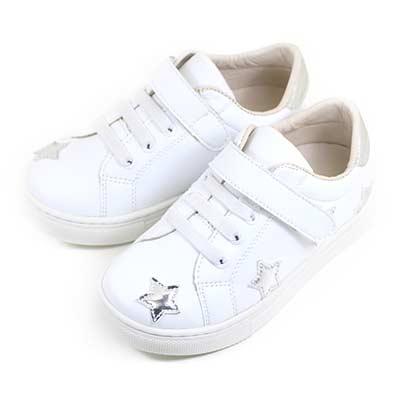 Swan天鵝童鞋-閃亮星星中童休閒鞋3866-白