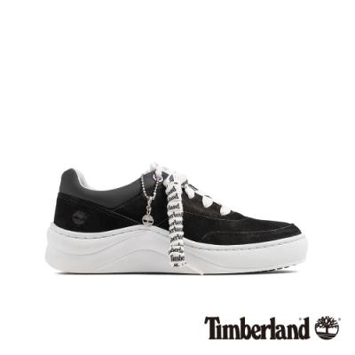 Timberland 女款黑色磨砂革增高休閒運動鞋|A211C