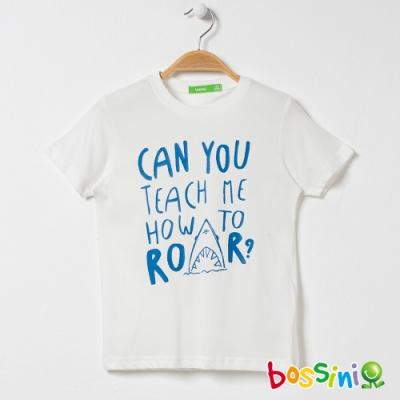 bossini男童-印花短袖T恤20灰白