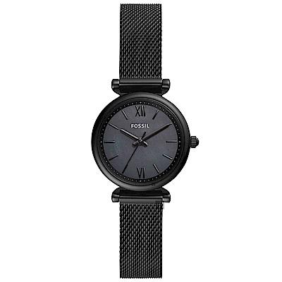 FOSSIL Jacqueline 羅馬時尚米蘭式女錶(ES4613)-黑/28mm