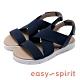 Easy Spirit seDAMARIS2-A 拼接寬束帶後繫帶低跟涼鞋-藍色 product thumbnail 1
