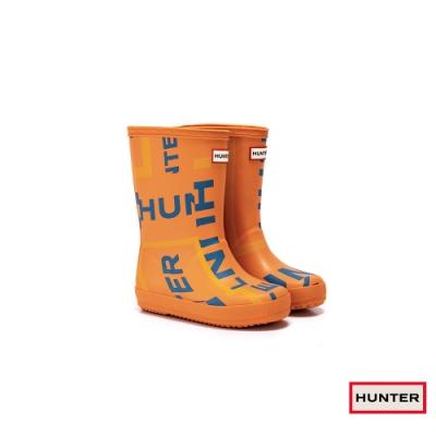 HUNTER - 童鞋 - 小童經典印花霧面短靴 - 橘