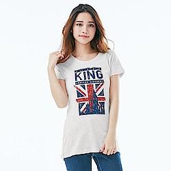 101原創 長版短袖T恤-環遊世界大英帝國(女)