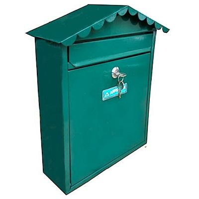 E5743  烤漆上掀式信箱/意見箱- 深绿色 (附二支鑰匙螺絲)