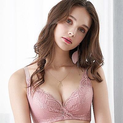 EASY SHOP-奢意夢境 大罩杯B-E罩成套內衣(芋粉色)