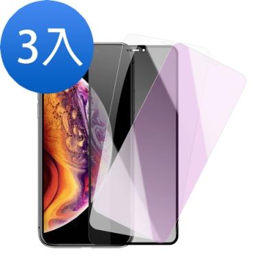 iphone XS Max 藍紫光/透明/防窺保護貼-超值3入組