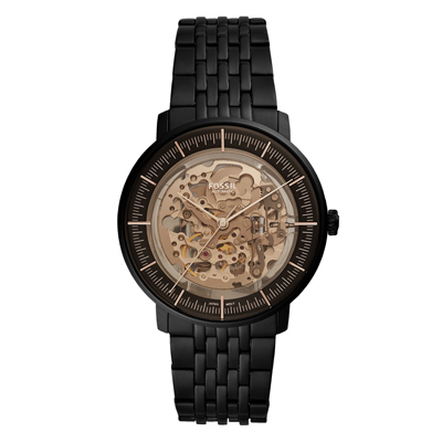 FOSSIL 科技感鏤空機械手錶-黑(ME3163)/42mm