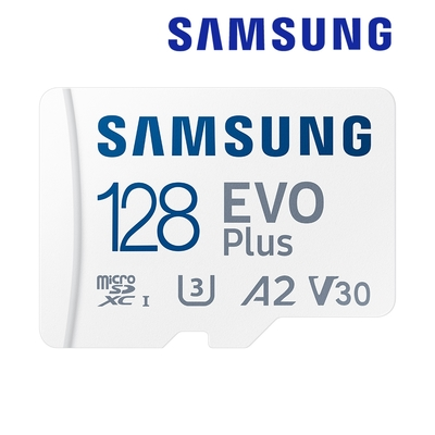 SAMSUNG 三星EVO Plus microSDXC UHS-I U3 A2 V30 128GB記憶卡 公司貨