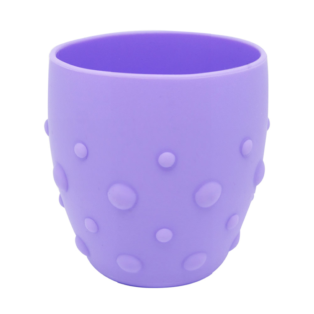 【MARCUS&MARCUS】動物樂園矽膠防滑學習杯-鯨魚(紫)