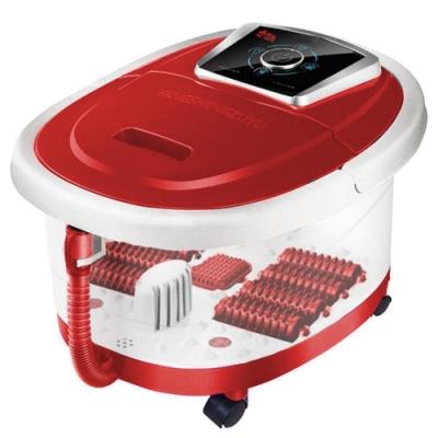 勳風 紅玫瑰全罩式氣泡滾輪泡腳機(HF-G139H)排水管+移動輪