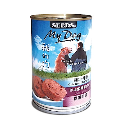 聖萊西Seeds MyDog我的狗 愛犬機能餐罐  400 g  24 罐組