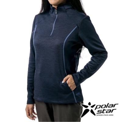 PolarStar 女 立領拉鍊保暖衣『深藍』P19266