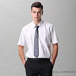 ROBERTA諾貝達 台灣製 吸濕排汗 清爽舒適 條紋短袖襯衫 灰白