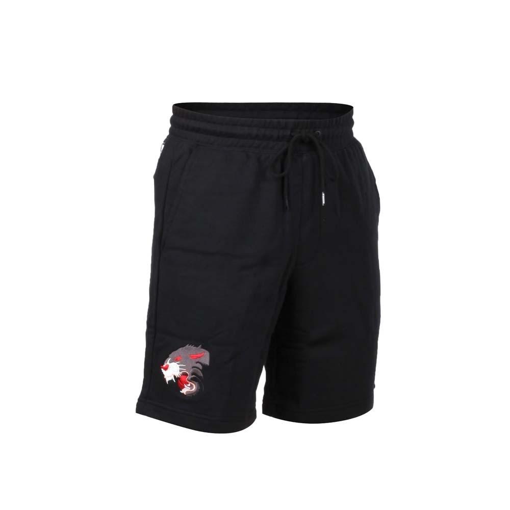 PUMA 男流行系列運動短褲-針織 慢跑 路跑 黑灰白紅