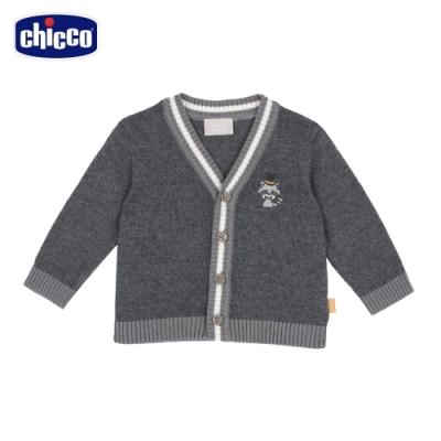 chicco- 浣熊學士-棉毛混紡V領針織外套
