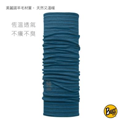 【西班牙BUFF】 海港藍紋 美麗諾羊毛頭巾