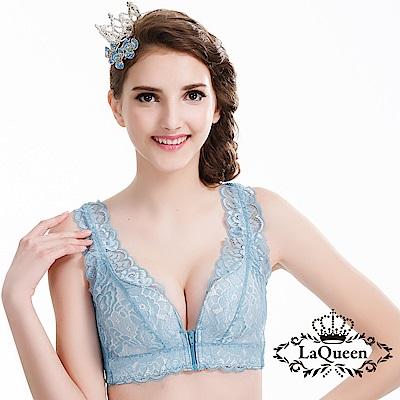 內衣   體態調整碧璽無鋼圈成套內衣-藍La Queen