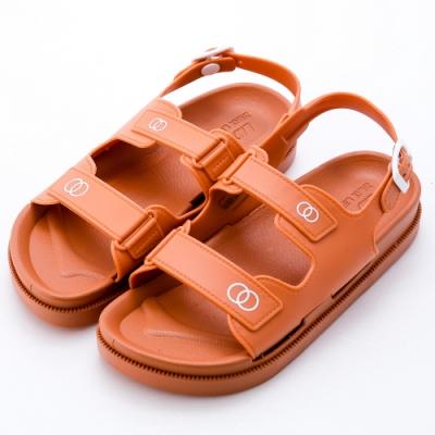 River&Moon涼鞋 小香風Q軟厚底防水涼鞋 橘