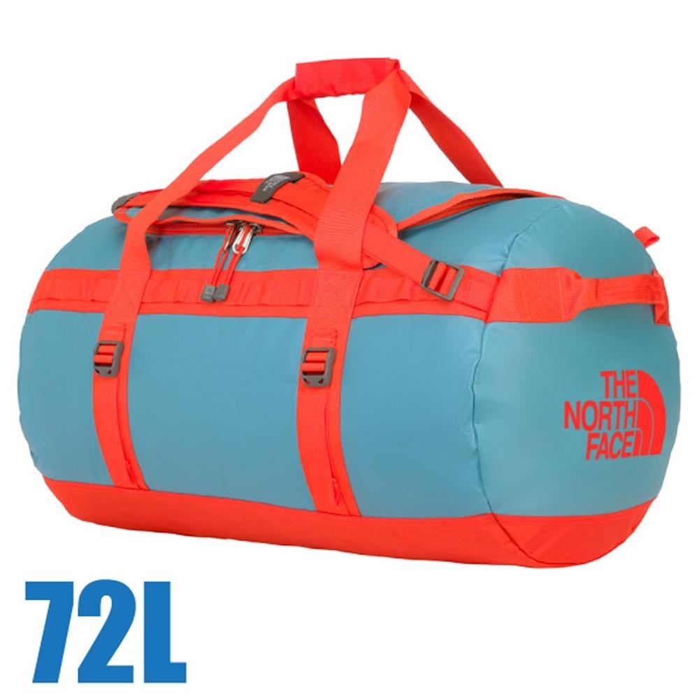 The North Face BASE CAMP DUFFEL 超大容量多功能側背包72L_復古藍/番茄紅 N