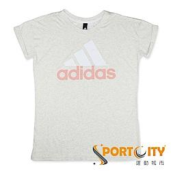 ADIDAS 女 寬版短袖上衣 CF8829 灰