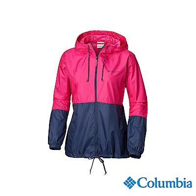 Columbia 哥倫比亞 女款-防潑水風衣-桃紅 UKR30100FC