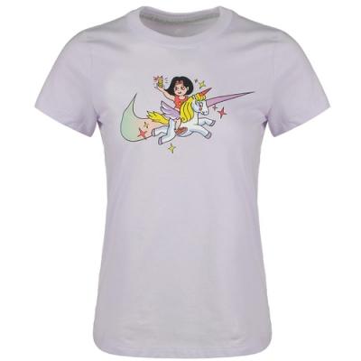 NIKE 女圓領 運動 健身 休閒 短袖上衣紫 CW6758571  AS SUMMER HOOPS DNA GAME SHORT