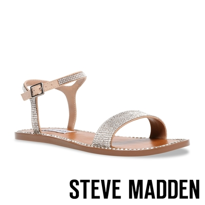 STEVE MADDEN-NICKEL-R 水鑽繞踝涼鞋-粉色