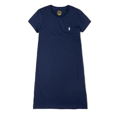 Polo Ralph Lauren 經典電繡小馬長板T恤(女)-深藍色