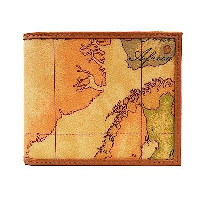 Alviero Martini 地圖包 地圖經典8卡時尚短夾