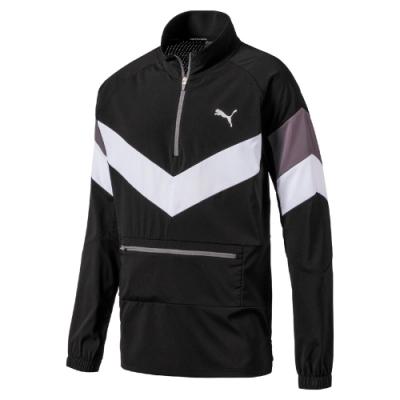PUMA-男性訓練系列Reactive可摺收半開襟風衣外套-黑色-歐規
