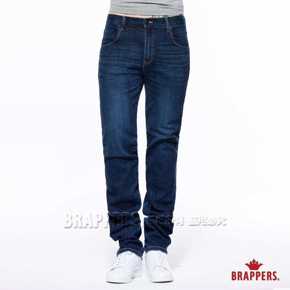 BRAPPERS 男款 HG高腰系列-高腰彈性直筒褲-藍