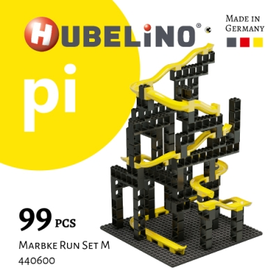 【德國HUBELiNO】 Pi 系列軌道積木 99pcs (基礎顆粒+軌道套件)