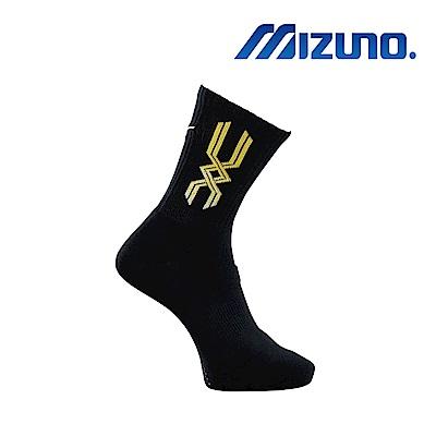 Mizuno 美津濃 男運動厚底襪 5入 黑x黃 32TX800845