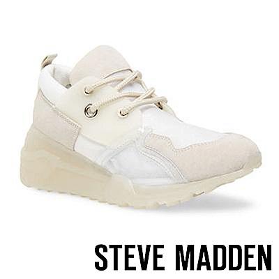 STEVE MADDEN-CLIFF 潮流款拼接時尚老爹鞋-白色