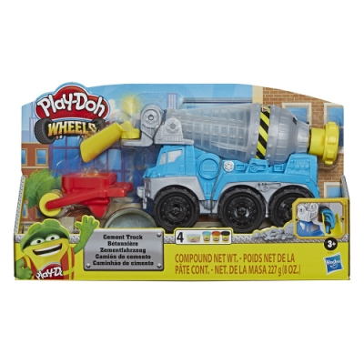 【培樂多Play-Doh】創意DIY黏土 培樂多車輪系列 水泥車組