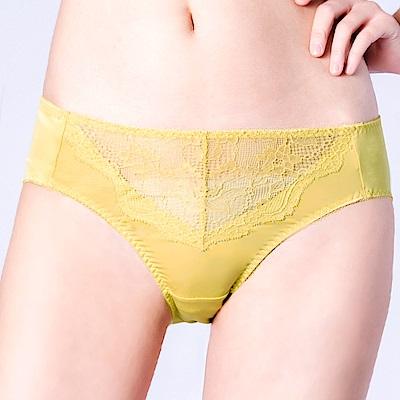 思薇爾 輕戀香系列M-XXL蕾絲中腰三角內褲(楊桃綠)