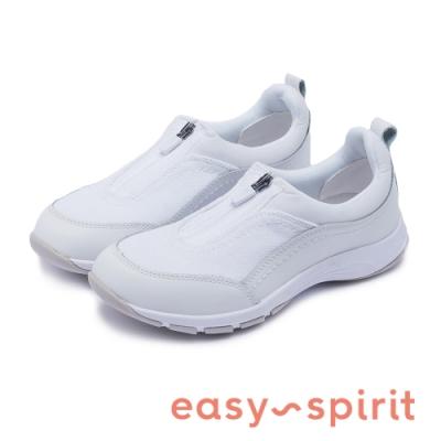 Easy Spirit-seCAVE8 雙核活力 拉鍊有型透氣休閒鞋-白色