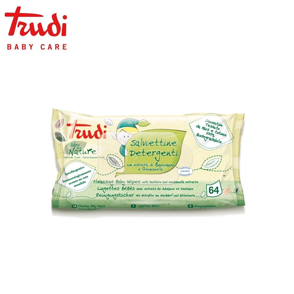 Trudi Baby Care 義大利 寶貝植萃濕紙巾64抽x3入