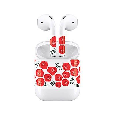 mogen AirPods 隨身耳機保護貼 小紅花