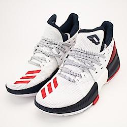 ADIDAS DAME 3 J中大童籃球鞋-BW1101 白