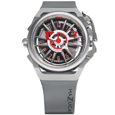MAZZUCATO 義式美學鷗翼式翻轉機械石英雙面手錶(RIM09-GYWH)
