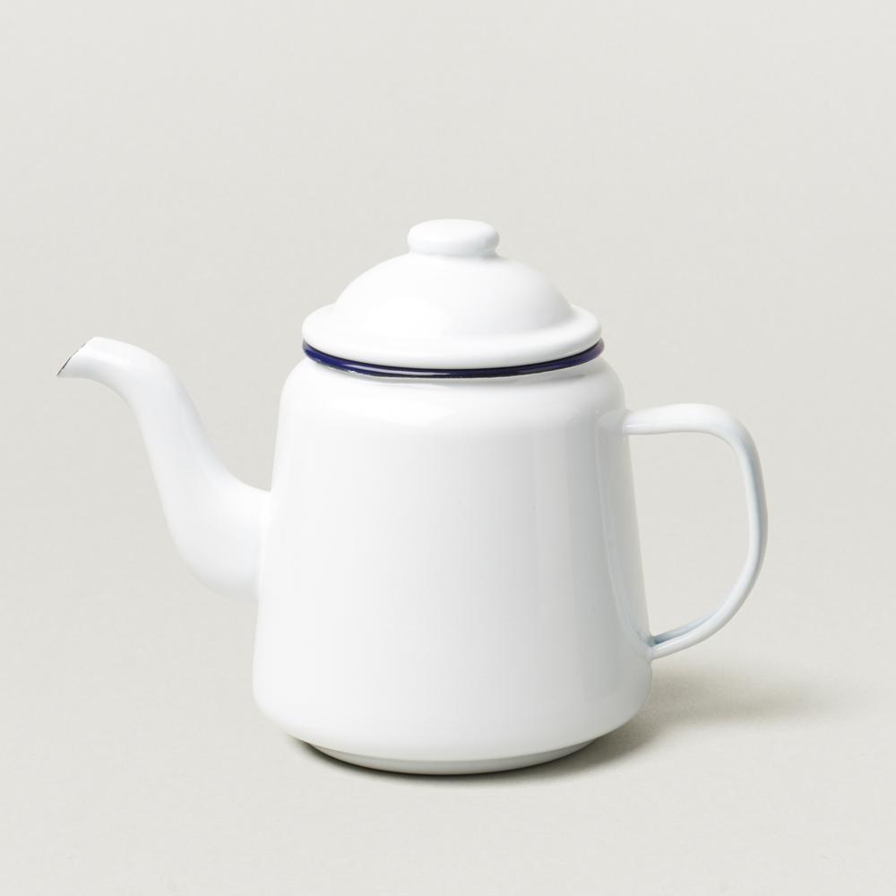 Falcon 獵鷹琺瑯 琺瑯茶壺 藍白