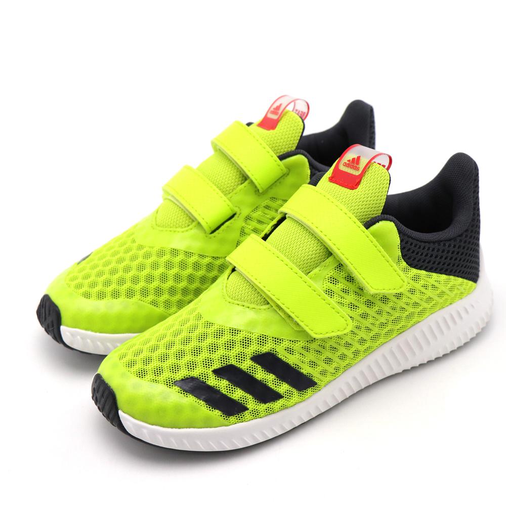 ADIDAS-中大童慢跑鞋CP9521-螢光綠