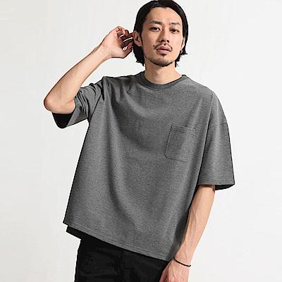 素色格紋寬版短袖T恤(12色) ZIP日本男裝