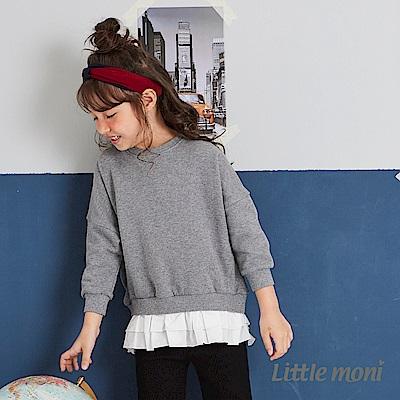 Little moni 假兩件拼接上衣 (2色可選)