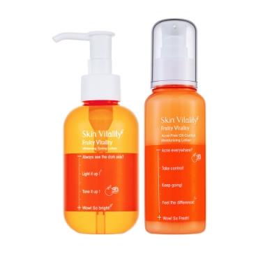 Skin Vitality 膚能量 果然淨白化妝水 150mL+果然控油抗痘保濕乳 100mL