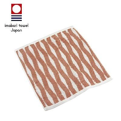 日本今治 純天然有機棉無染色方巾(海波紋-粉藕紅)